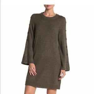 Madewell Donegal Button Sleeve Sweater Dress M